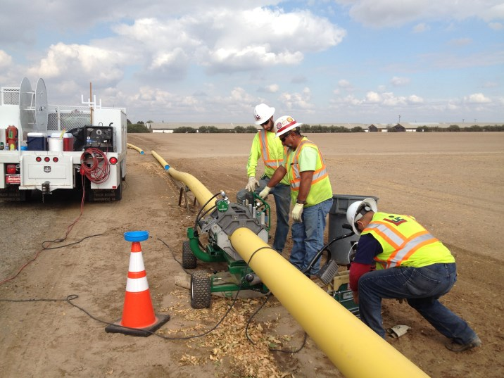 "8"" Plastic Natural Gas Pipeline Installation – Atwater, CA"